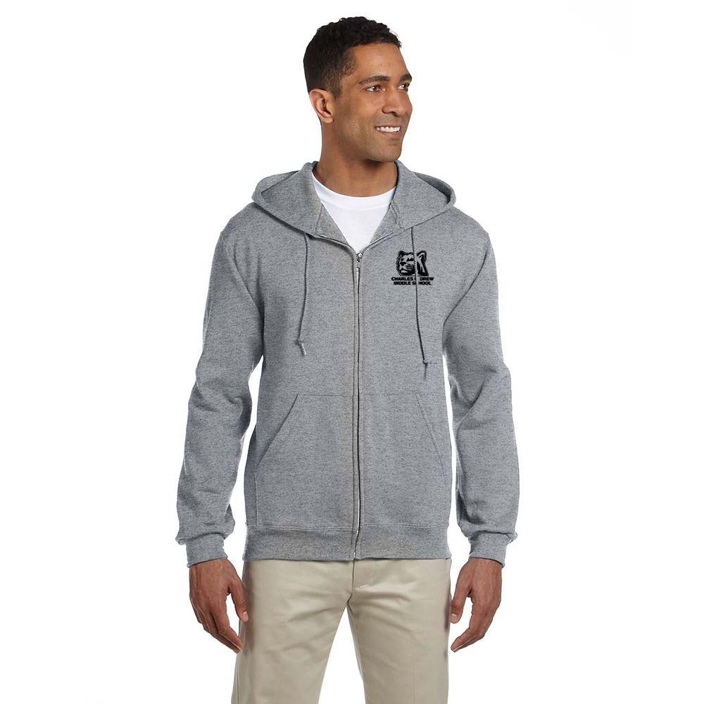 Jerzees Super Sweats® NuBlend® Adult Fleece Full-Zip Hooded Sweatshirt- Silkscreen Personalization Available
