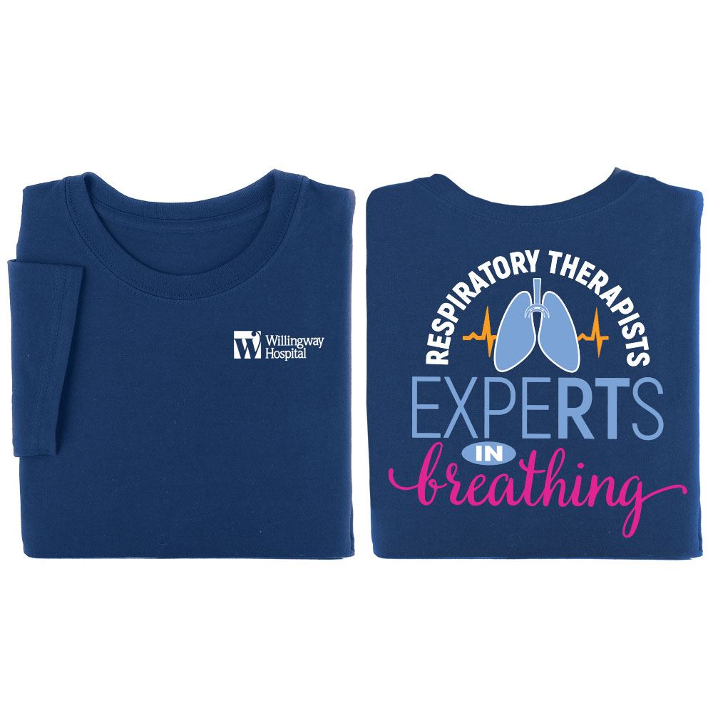Respiratory Therapists: ExpeRTs In Breathing Two-Sided Short Sleeve T-Shirt