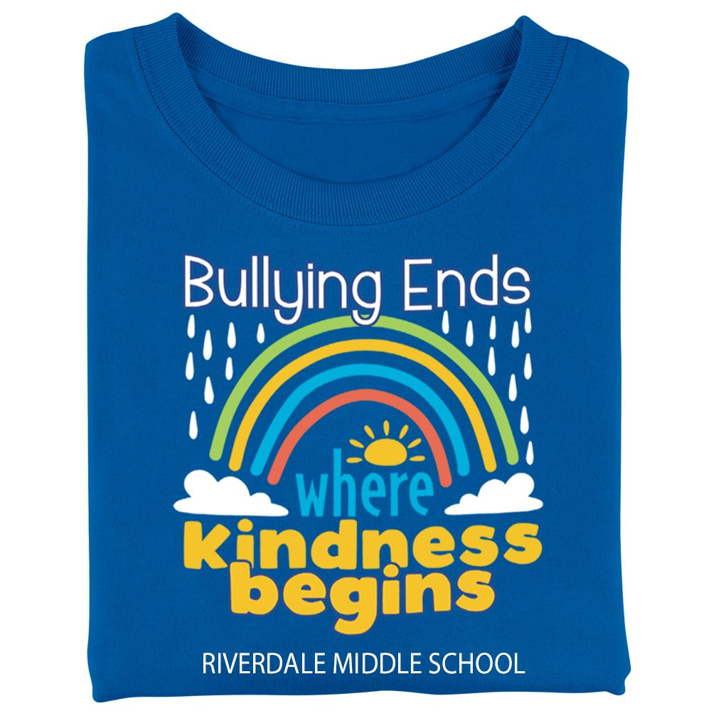 Bullying Ends Where Kindness Begins Youth T-Shirt - Silkscreened Personalization Available