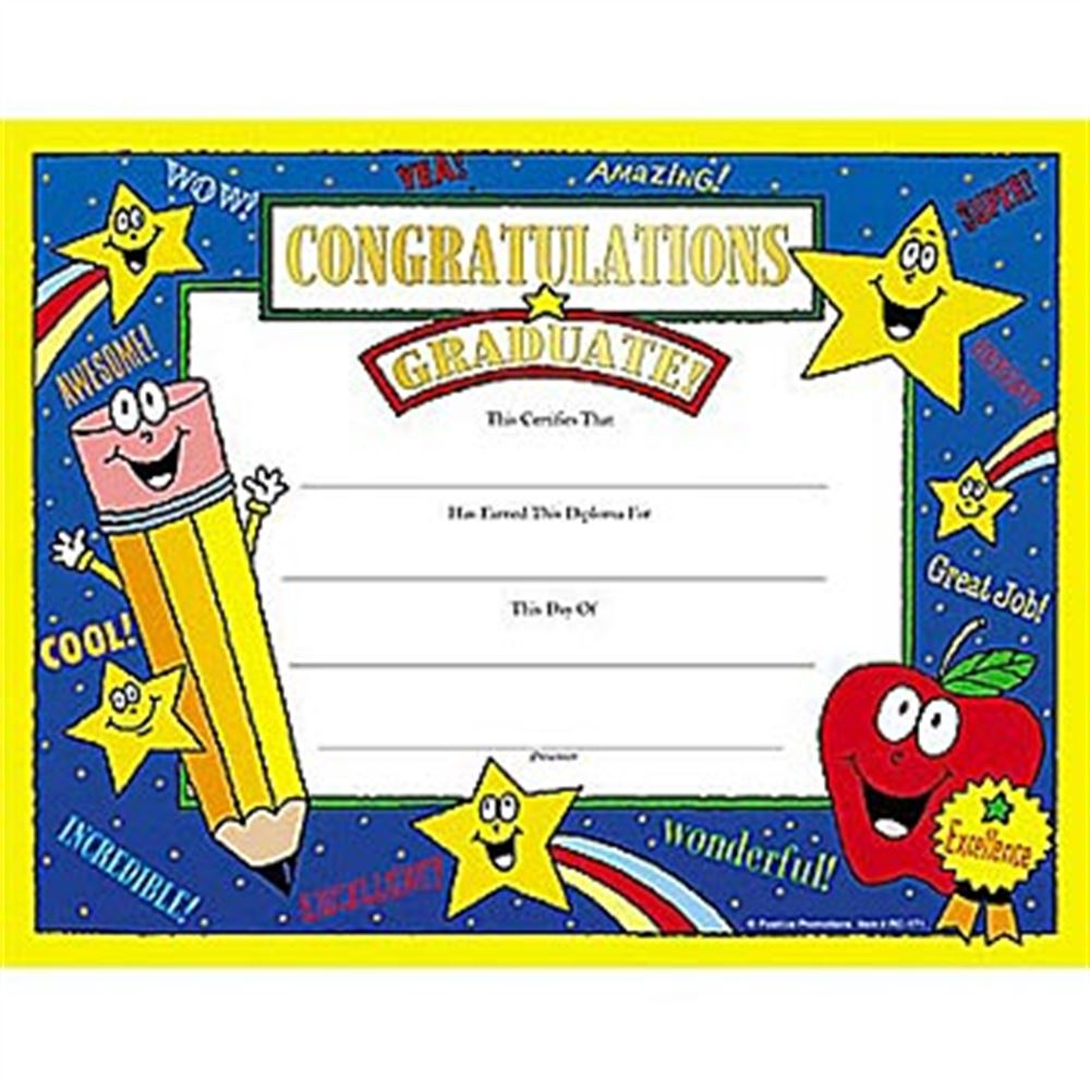 Congratulations Graduate! Gold Foil-Stamped Certificates - Pack of 25