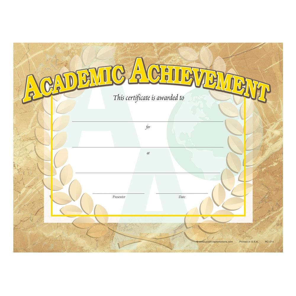 Academic Achievement Gold Foil-Stamped Certificates - Pack of 25