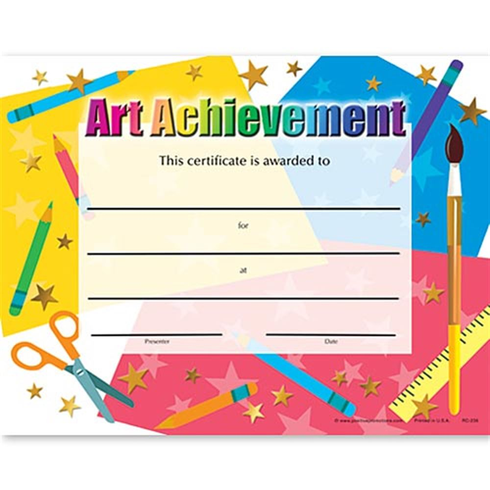 Art Achievement Gold Foil-Stamped Certificates - Pack of 25