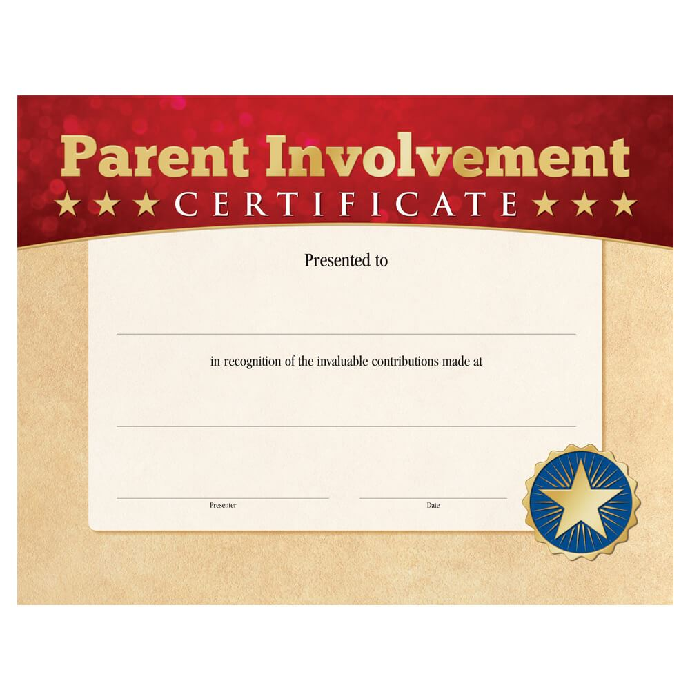 Parent Involvement Certificate Positive Promotions