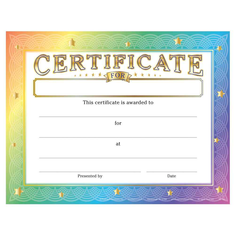 Certificate For (Write In) Gold Foil-Stamped Certificate