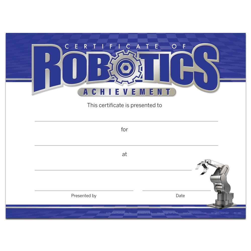 Certificate For Robotics Achievement Gold Foil-Stamped Certificates - Pack of 25