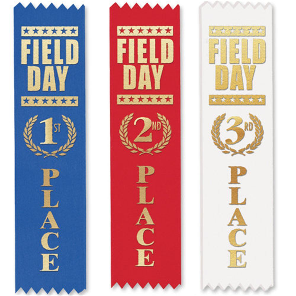 1st, 2nd, 3rd Place Field Day Award Ribbon 105-Piece Assortment Pack