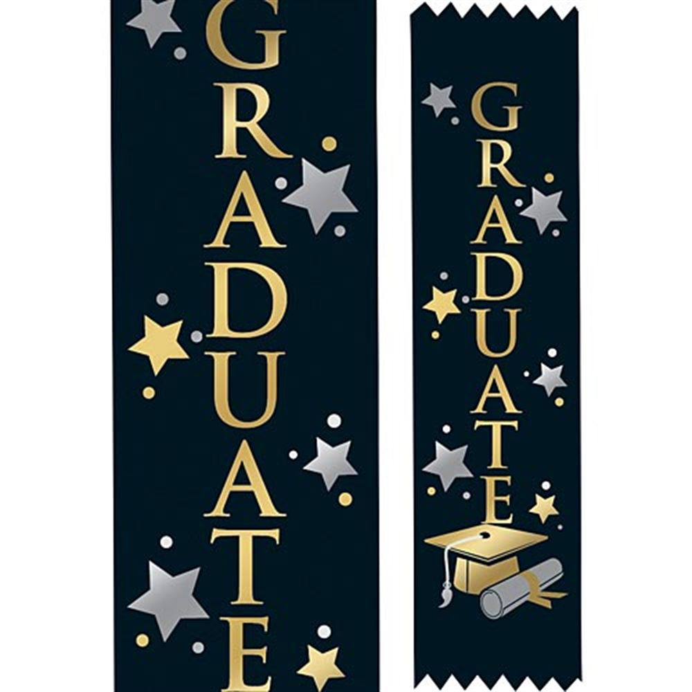 Graduate Two Color Satin Ribbons