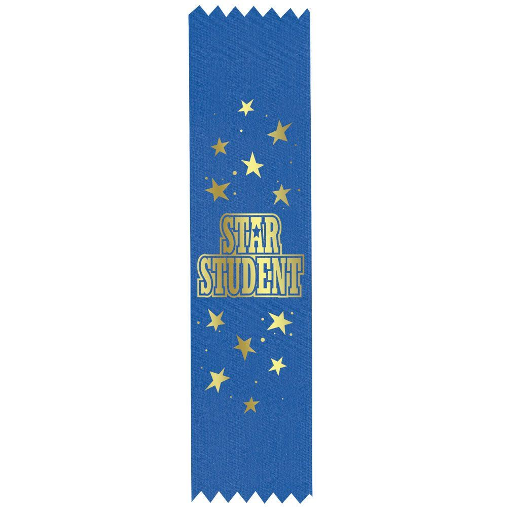 Star Student Gold Foil-Stamped Satin Ribbon
