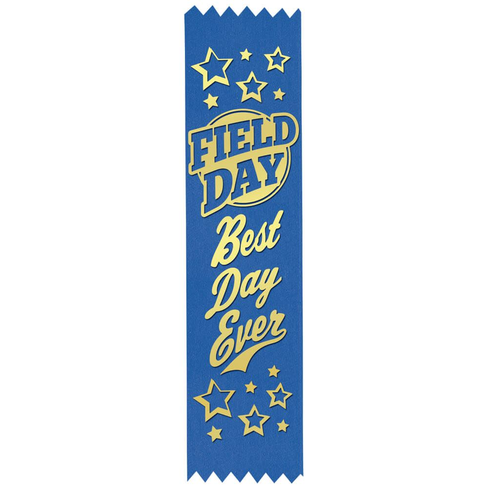 Field Day: Best Day Ever Gold Foil-Stamped Participant Ribbons - Pack of 100