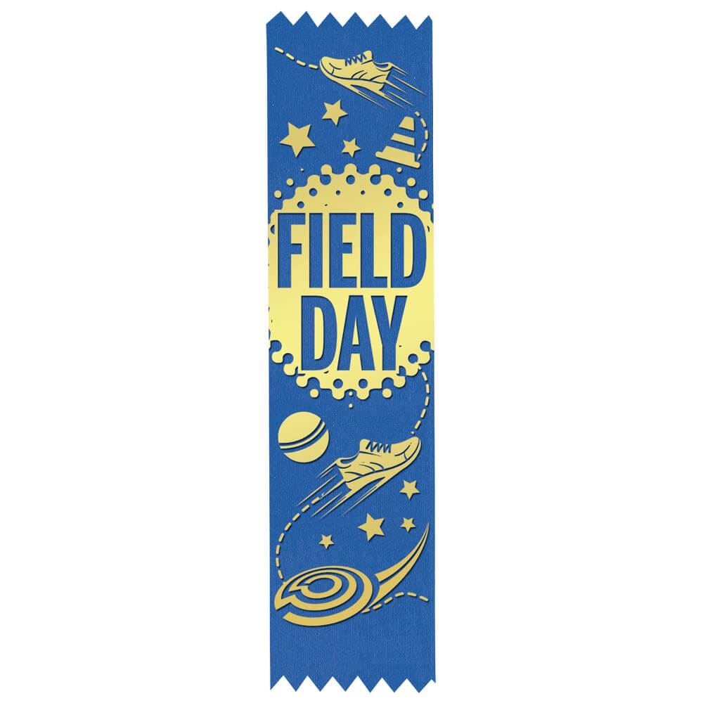 Field Day Gold Foil-Stamped Participant Ribbons - Pack of 100