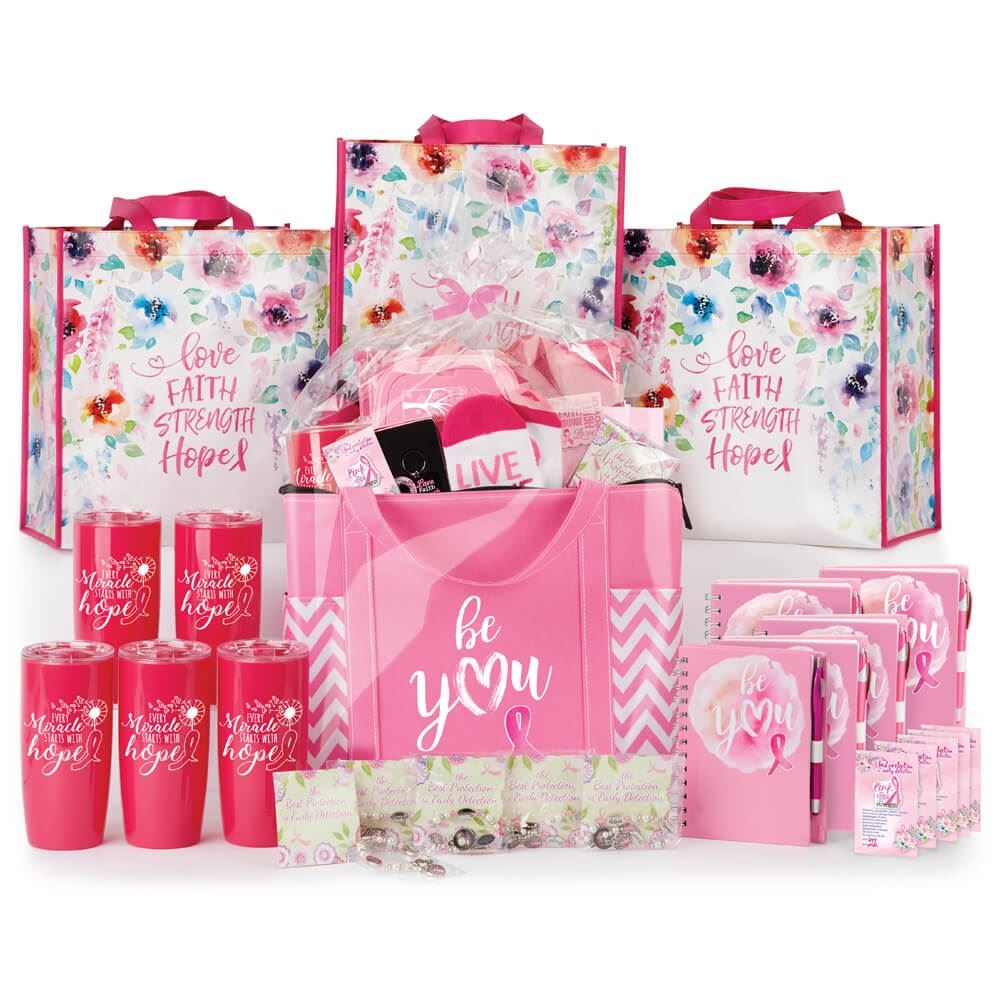 Breast Cancer Awareness 51-Gift Budget Raffle Pack   Positive Promotions