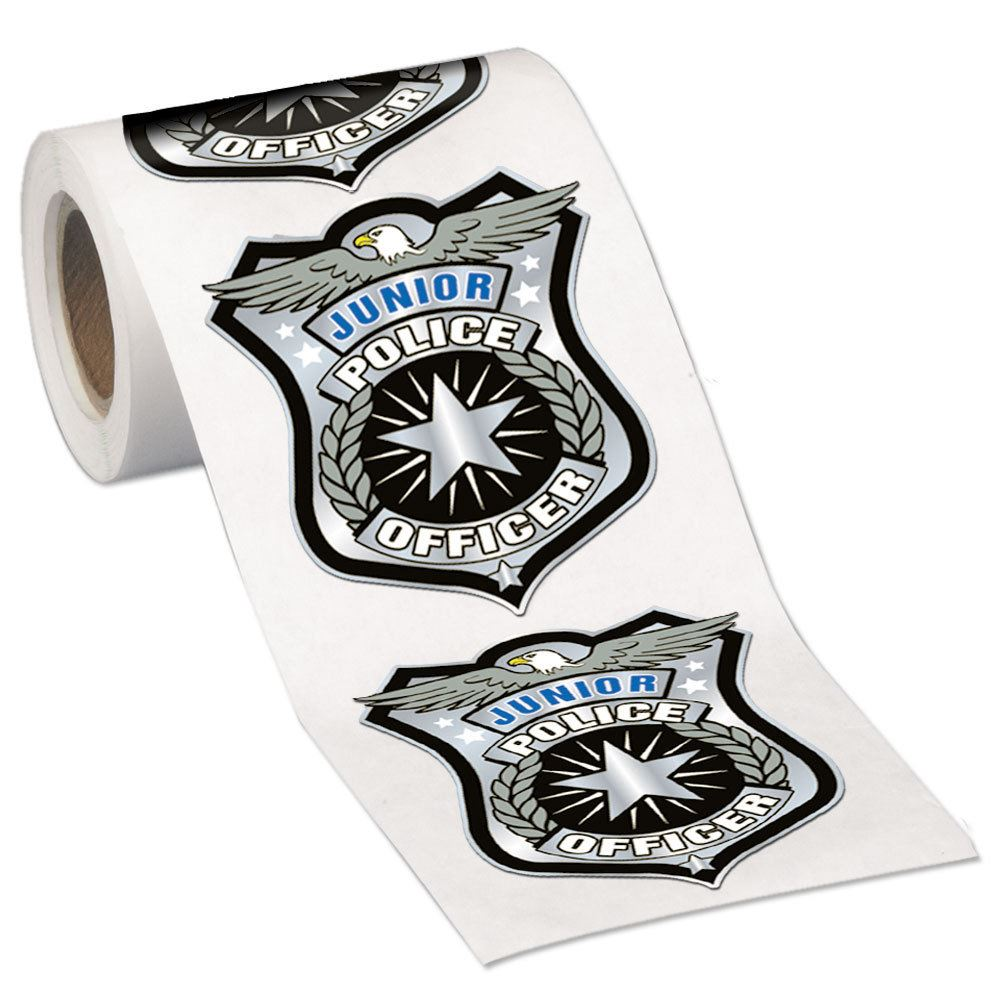 junior police officer stickers on a roll positive promotions