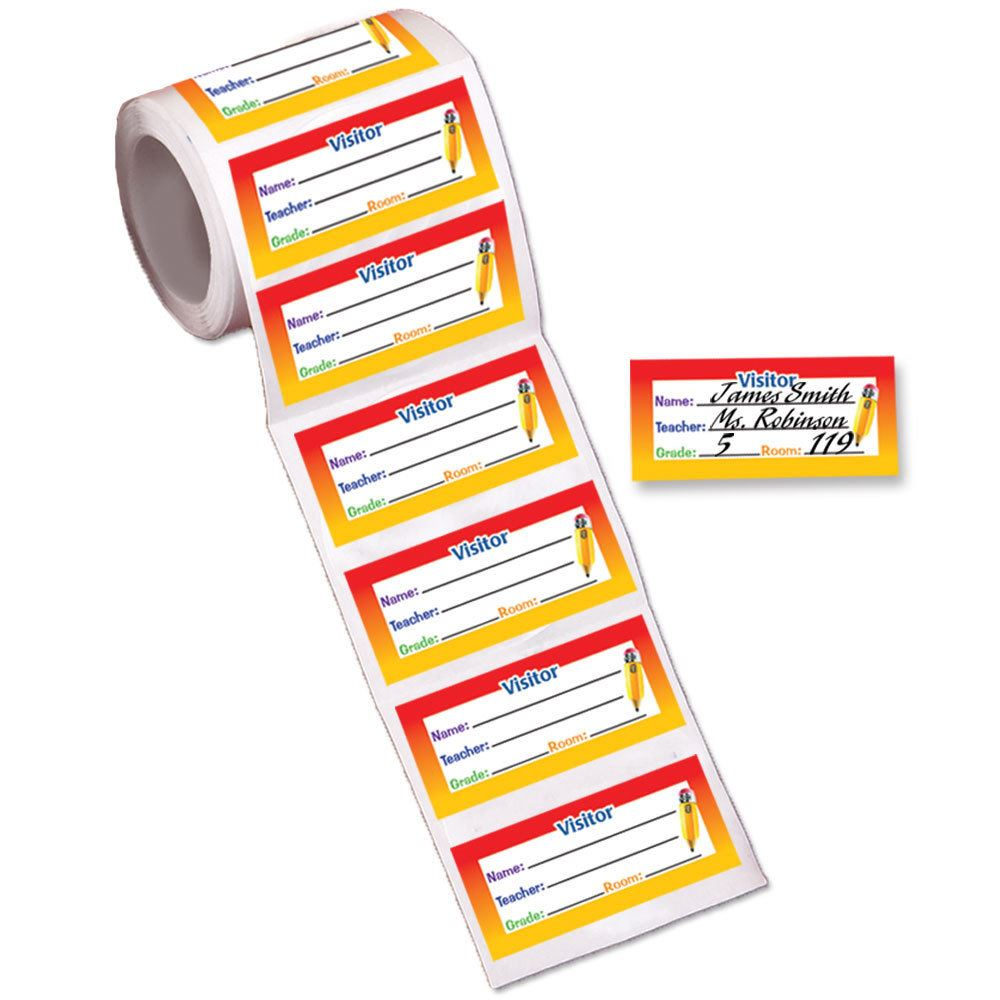 Visitor Stickers-On-A-Roll - Roll of 200