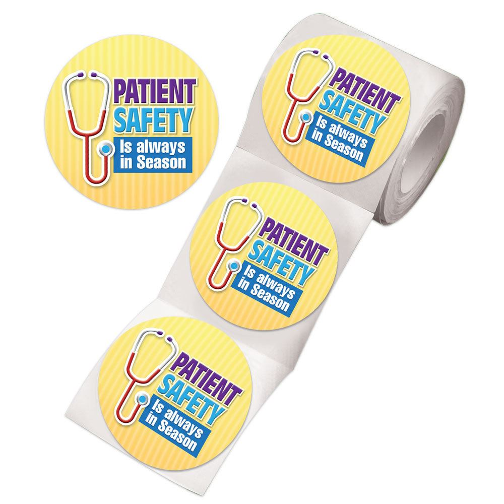 Patient Safety Is Always In Season Stickers-On-A Roll