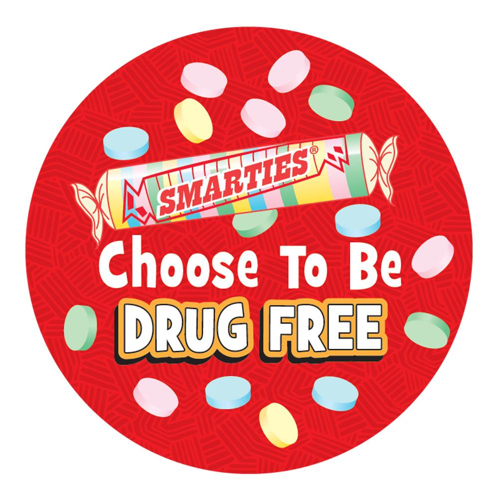 Smarties® Choose To Be Drug Free Theme Day Stickers - Roll of 200