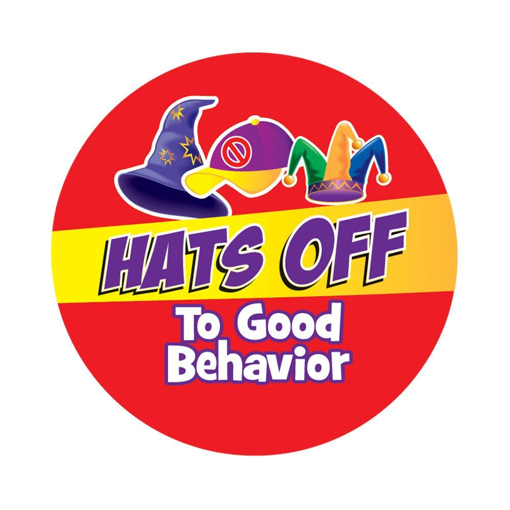Hats Off To Good Behavior Stickers | Positive Promotions