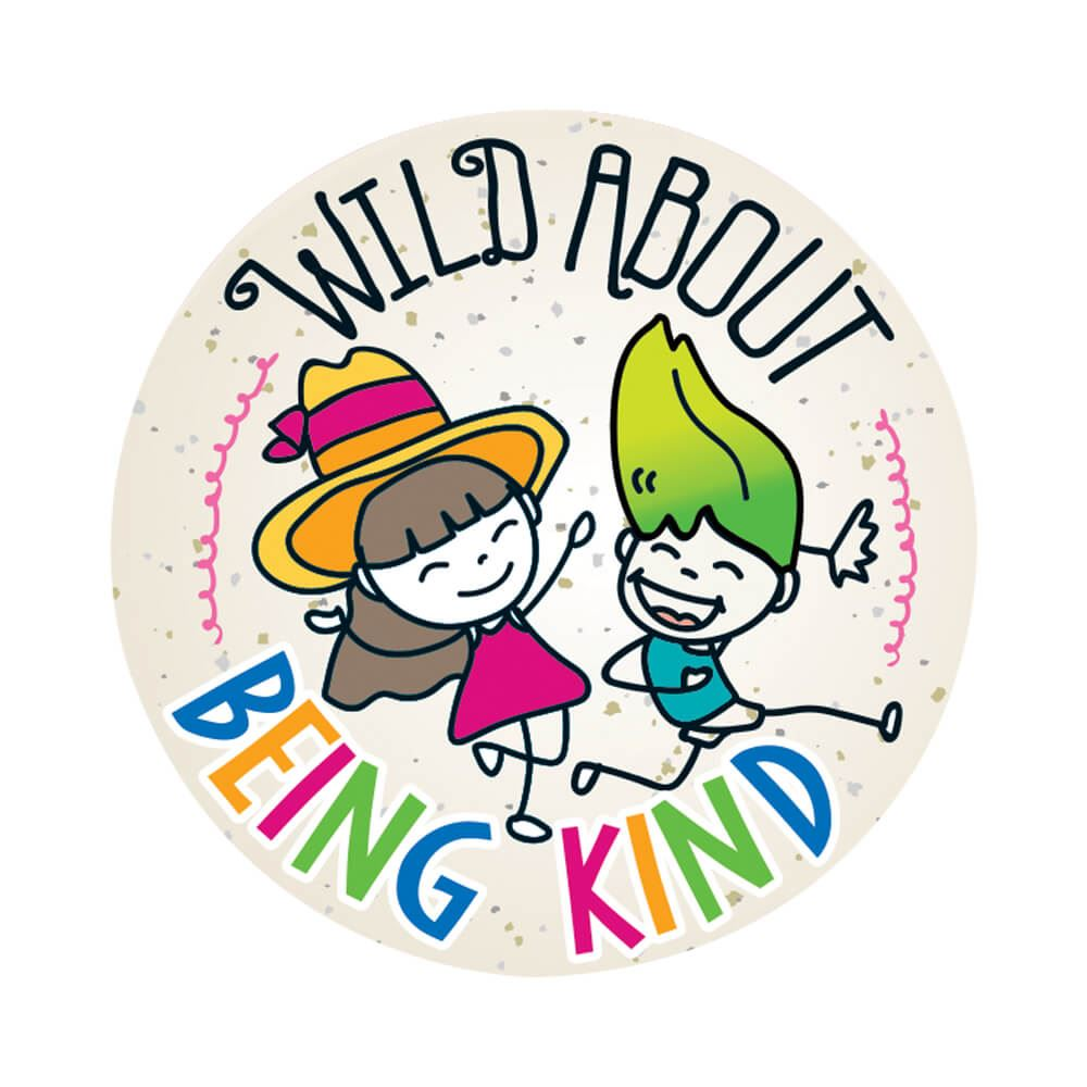 Wild About Being Kind Sticker