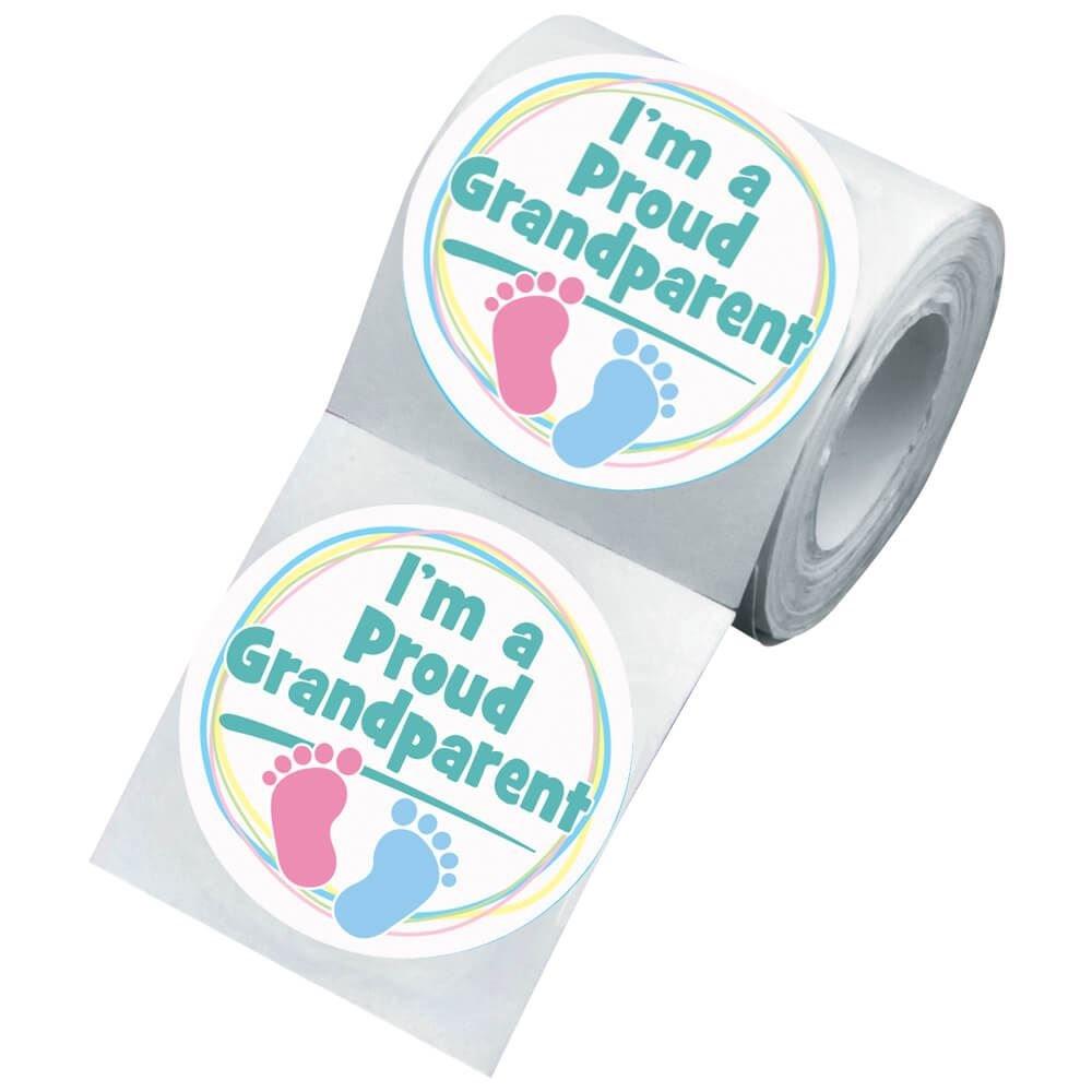 I'm A Proud Grandparent Visiting Newborn Family Sticker Roll