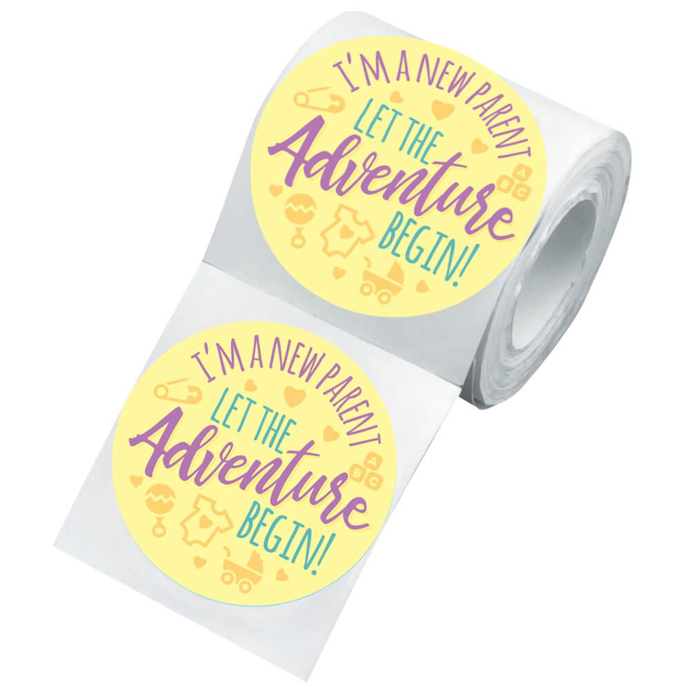 I'm A New Parent Visiting Newborn Family Sticker Roll