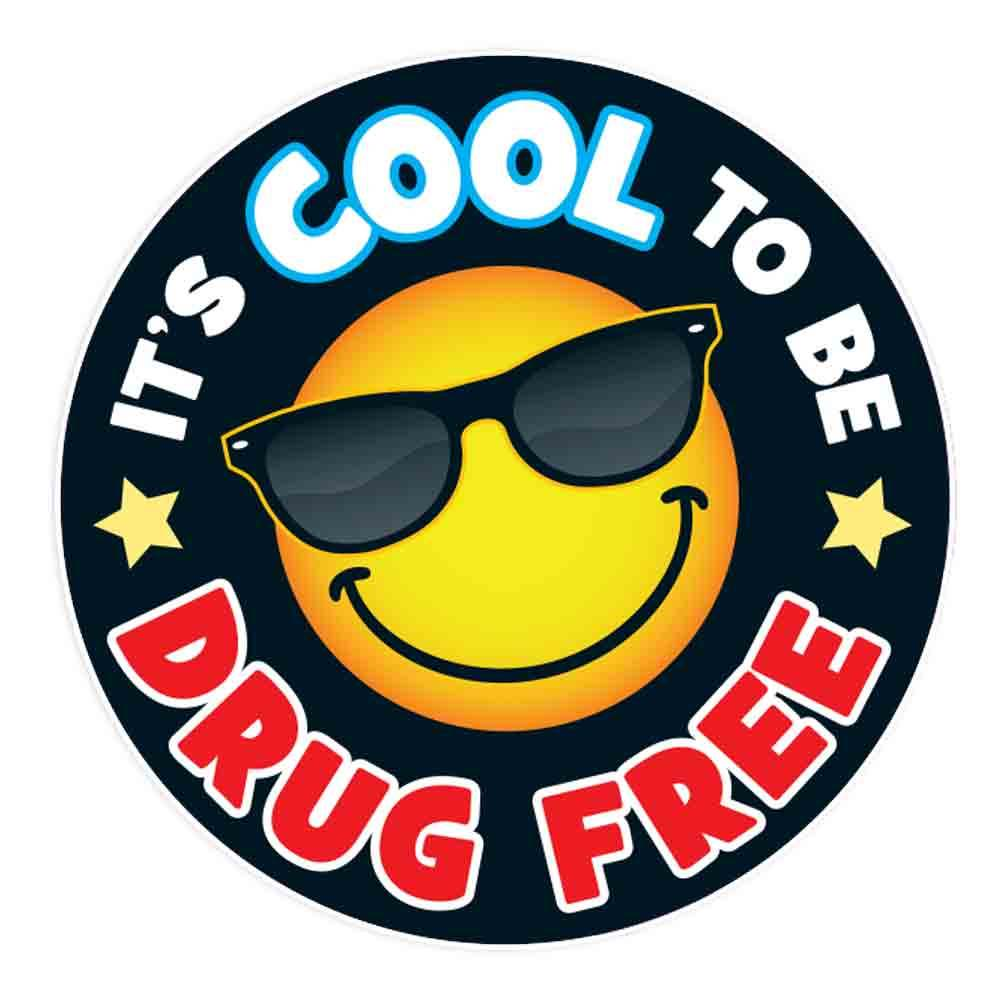 It's Cool To Be Drug Free Theme Day Stickers - Roll of 200