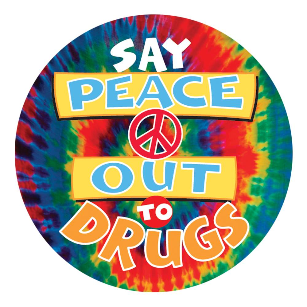 Say Peace Out To Drugs Theme Day Stickers - Roll of 200