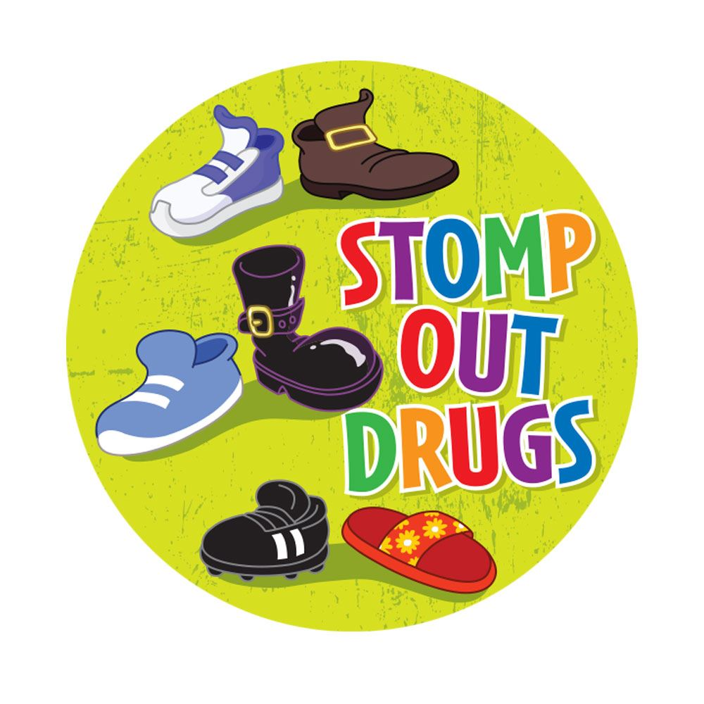 Stomp Out Drugs�Theme Day Stickers - Roll of 200