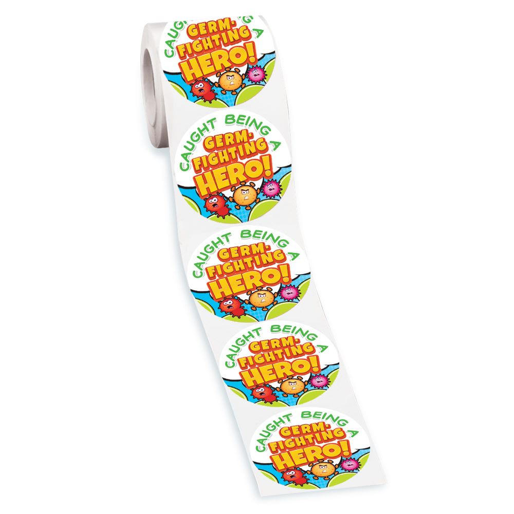 Germ-Fighting Stickers-On-A-Roll - Pack of 200