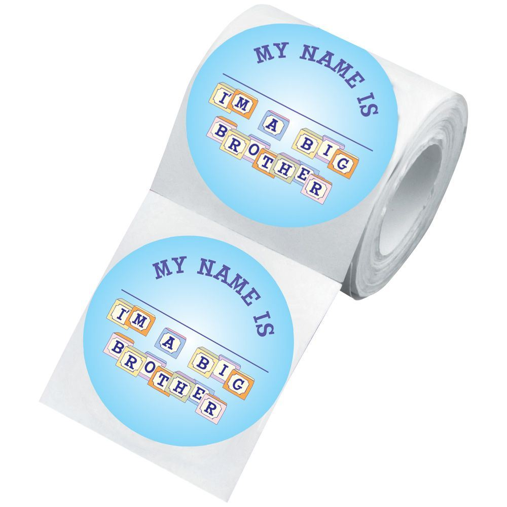 Big Brother Visiting Newborn Family Sticker Roll