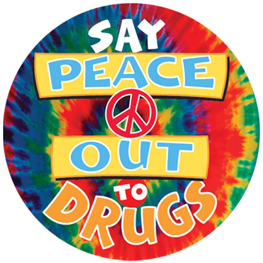 Theme Day Stickers: Say Peace Out To Drugs