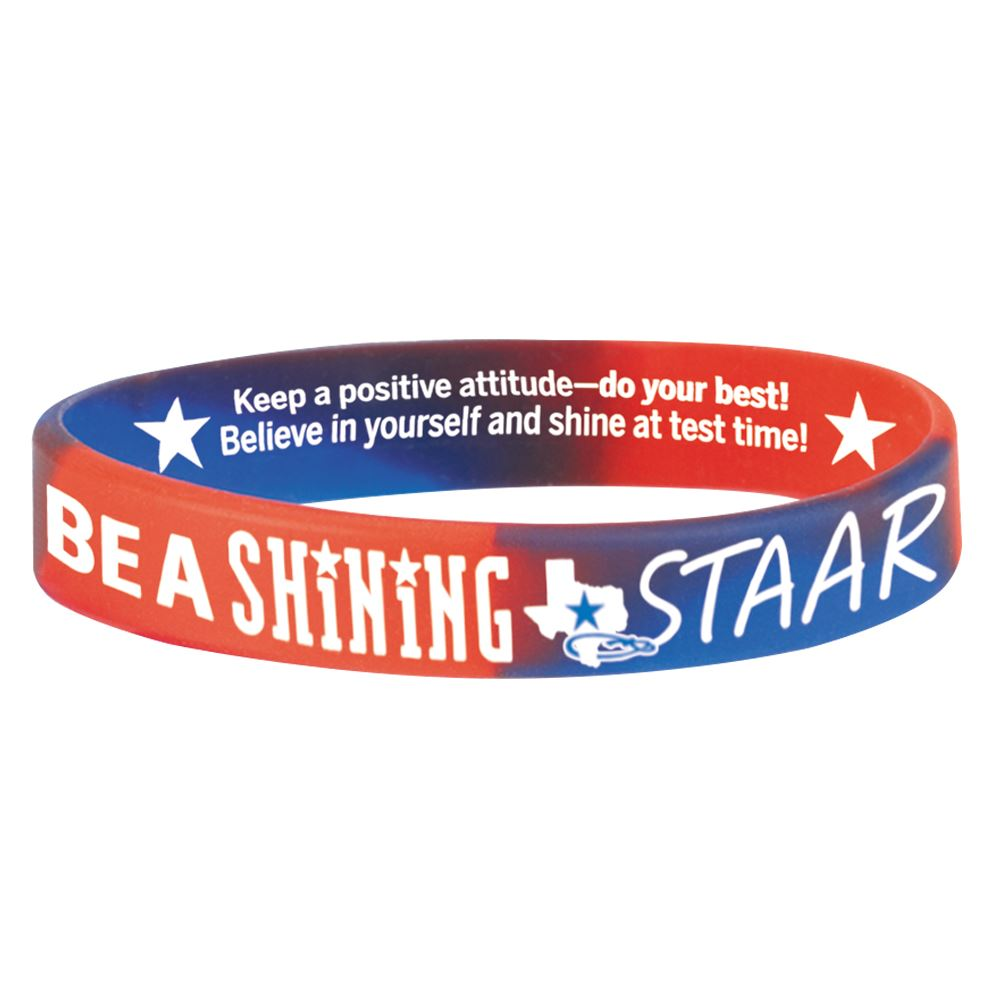 Be a Shining STARR 2-Sided Silicone Bracelets - Pack of 10