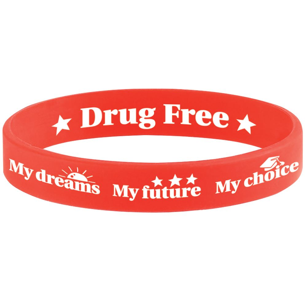 My Dreams My Future My Choice Drug Free�2-Sided Silicone Bracelets - Pack of 25