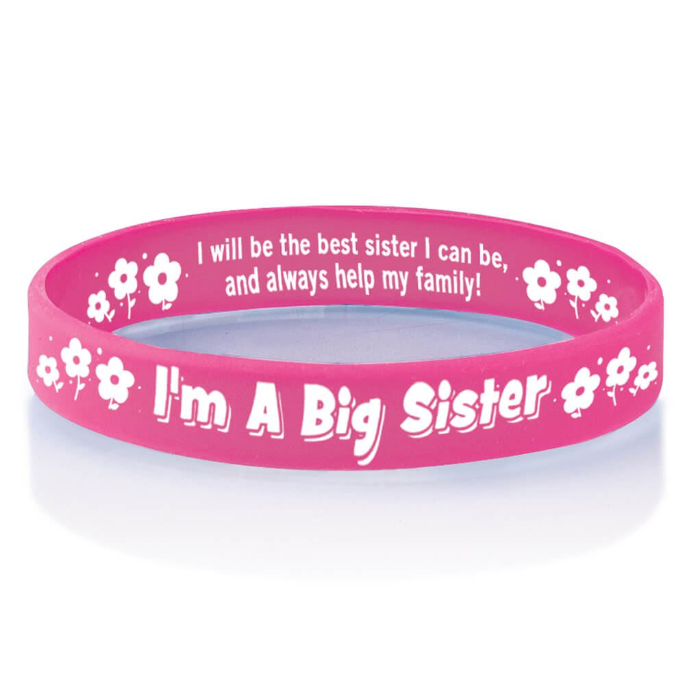 I'm A Big Sister Sibling Silicone Bracelet