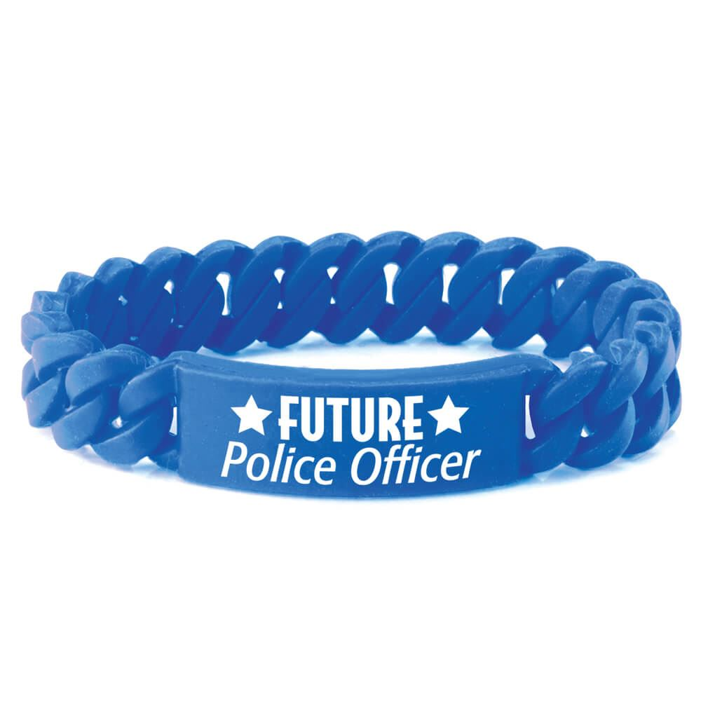 Future Police Officer Chain Link Bracelet