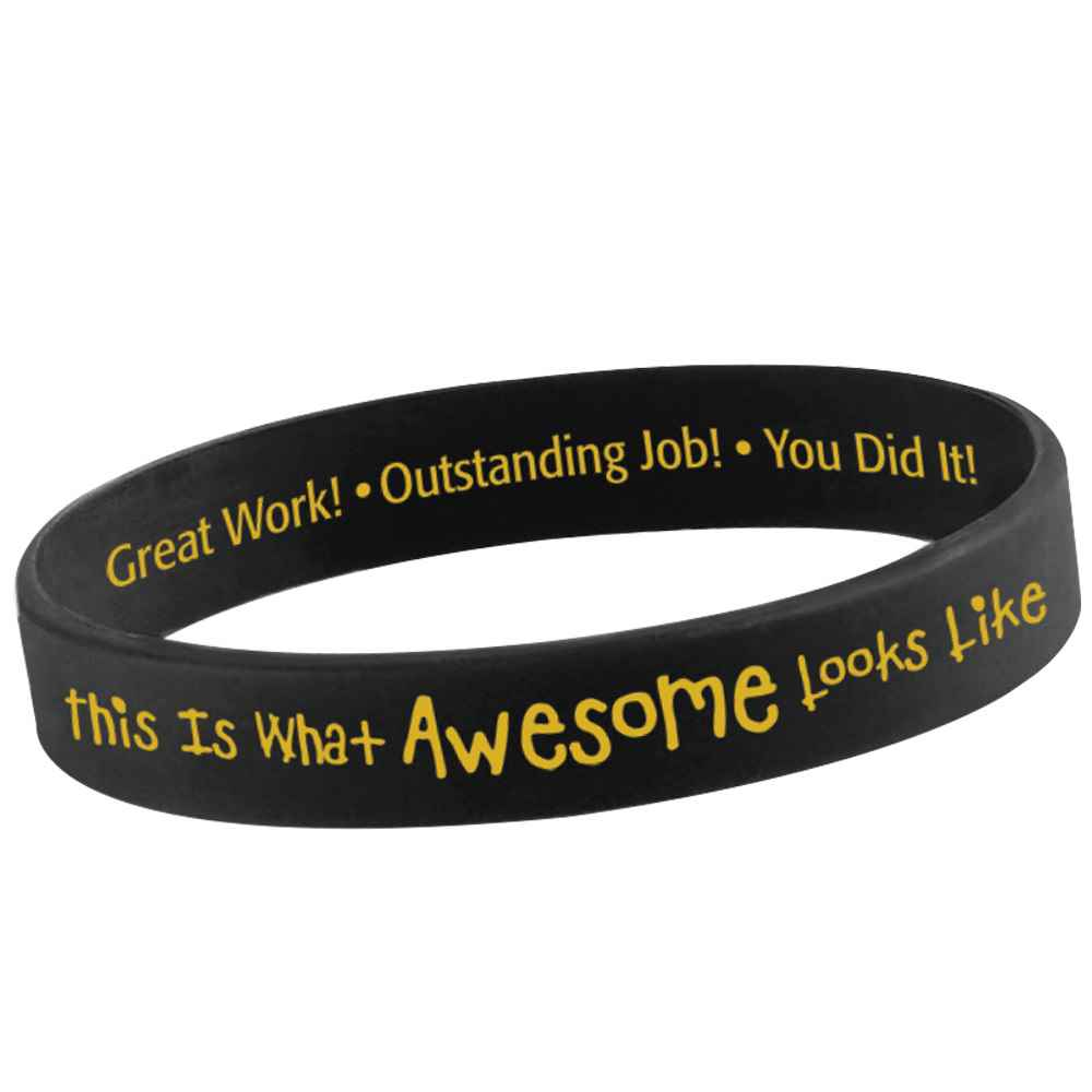 This Is What Awesome Looks Like 2-Sided Silicone Bracelets - Pack of 10
