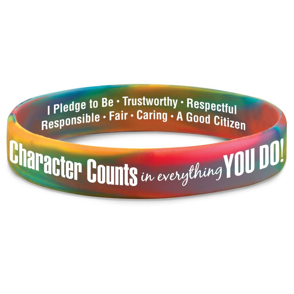 Character Counts In Everything You Do! 2-Sided Silicone Bracelets - Pack of 10
