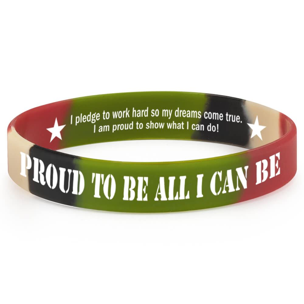 Proud To Be All I Can Be 2-Sided Silicone Bracelets - Pack of 10