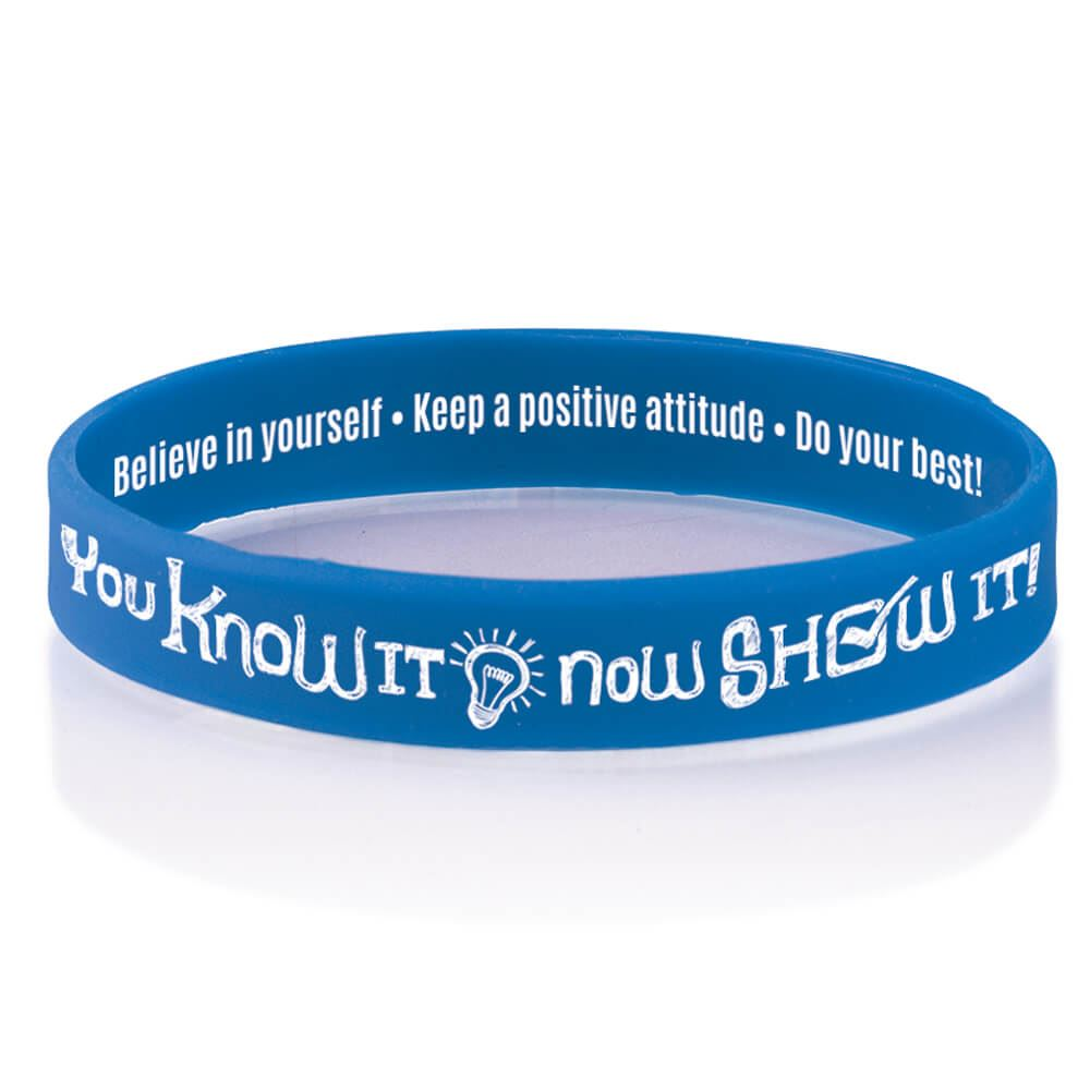 You Know It, Now Show It! Silicone Bracelets - Pack of 10