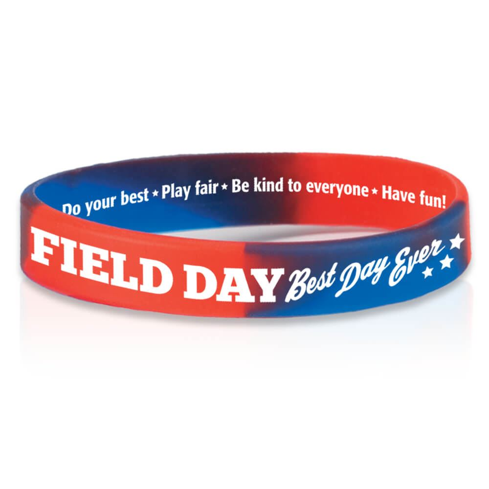 Field Day Best Ever 2 Sided Silicone Bracelet