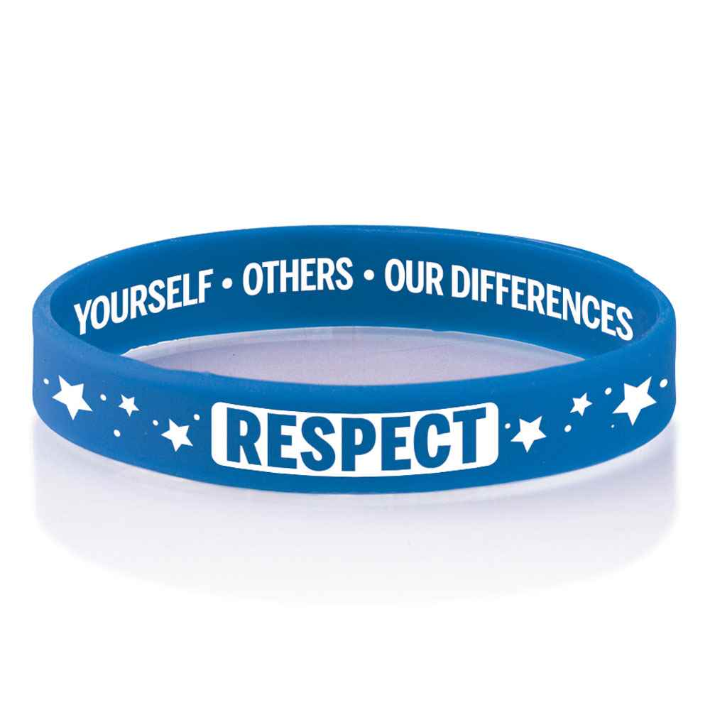 Respect Yourself, Others, Our Differences 2-Sided Silicone Bracelets - Pack of 25