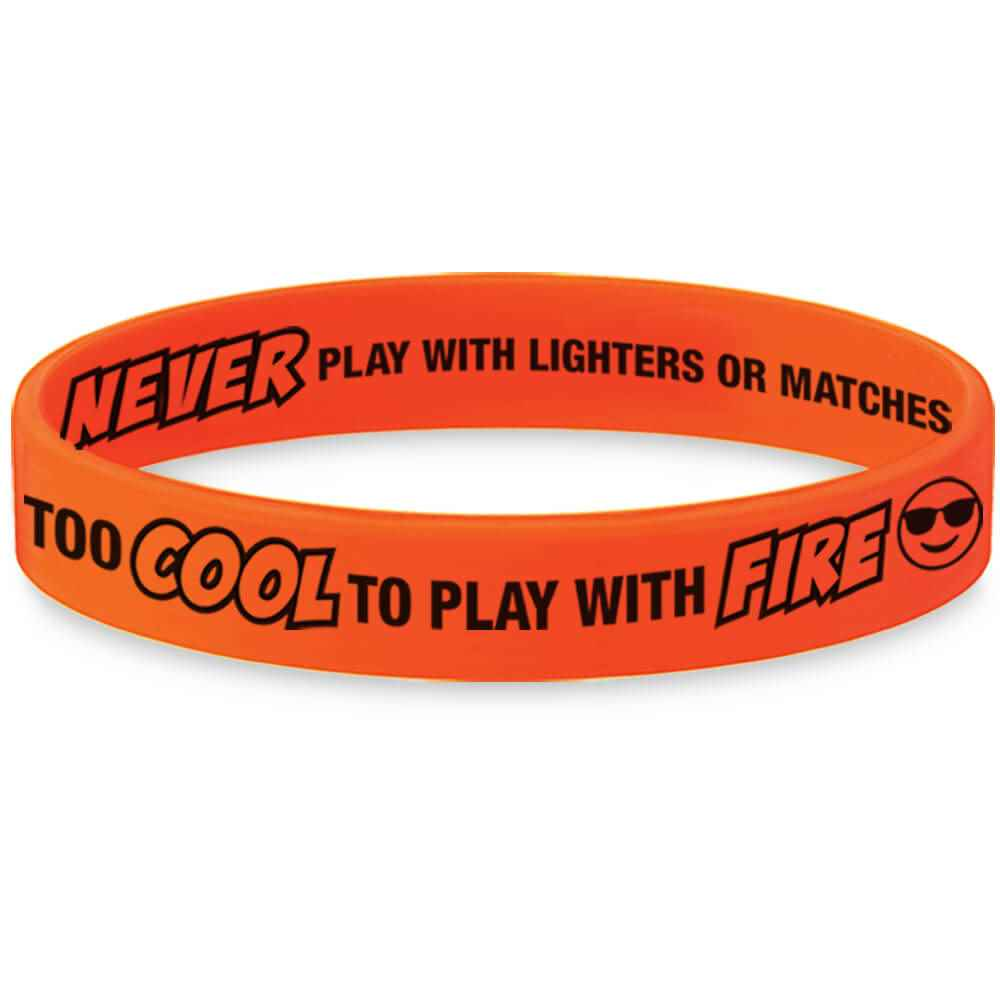 Too Cool To Play With Fire Mood-Changing Silicone Bracelet