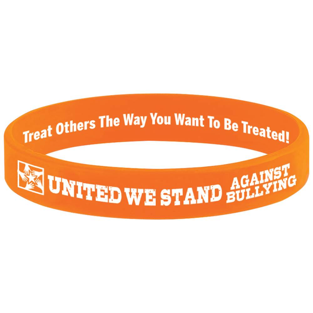 United We Stand Against Bullying Silicone Bracelet