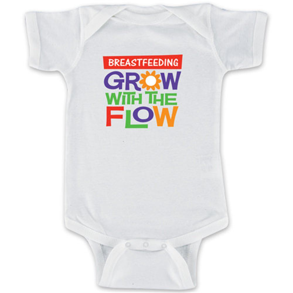 Breastfeeding: Grow With The Flow 1-Piece Bodysuit For Newborns