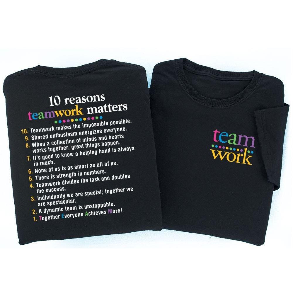 10 Reasons Teamwork Matters 2-Sided T-Shirt