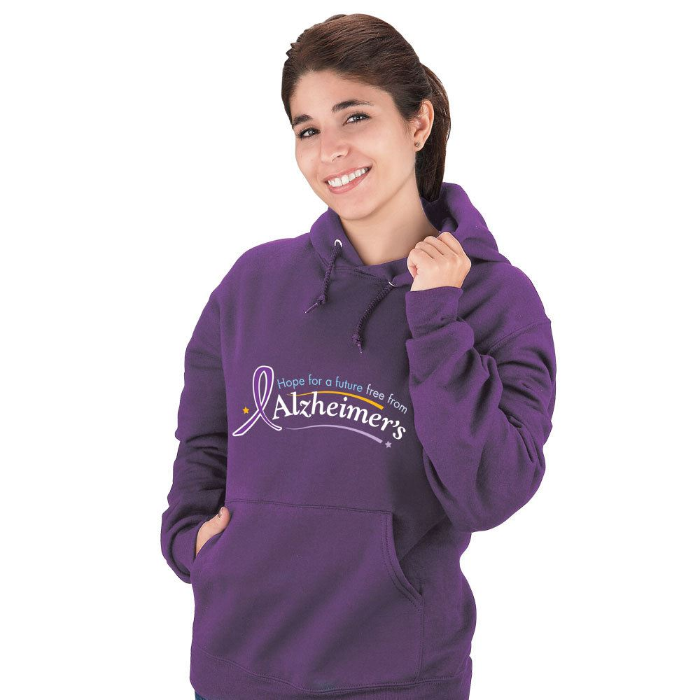 Hope For A Future Free From Alzheimer's Adult Sweatshirt