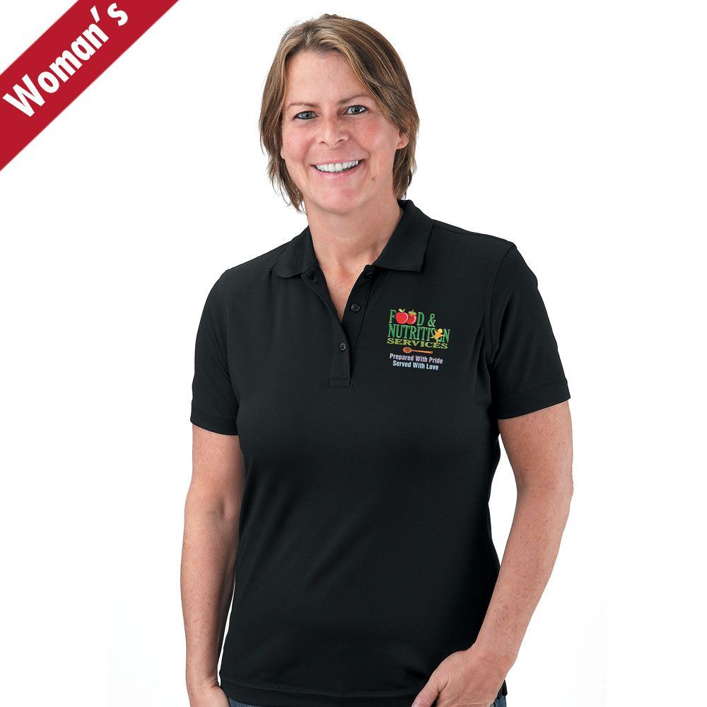 Food & Nutrition Services Prepared With Pride, Served With Love Women's Mesh Pique Polo
