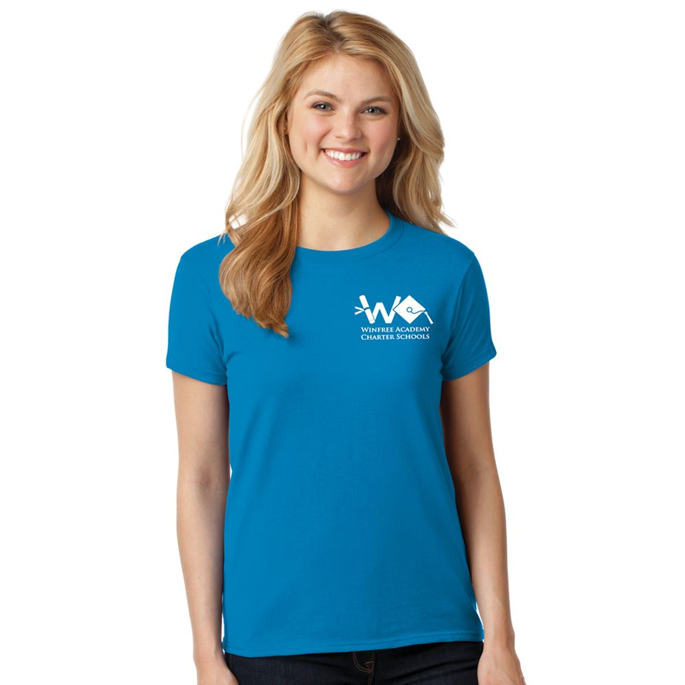 Gildan® Women's Heavy Cotton Short Sleeve T-Shirt: Premium Colors - Silkscreen Personalization Available