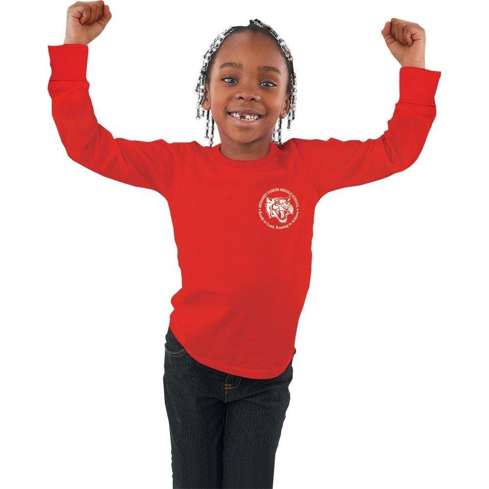 GIldan® Youth Heavy Cotton Long Sleeve T-Shirt - Silkscreen Personalization Available