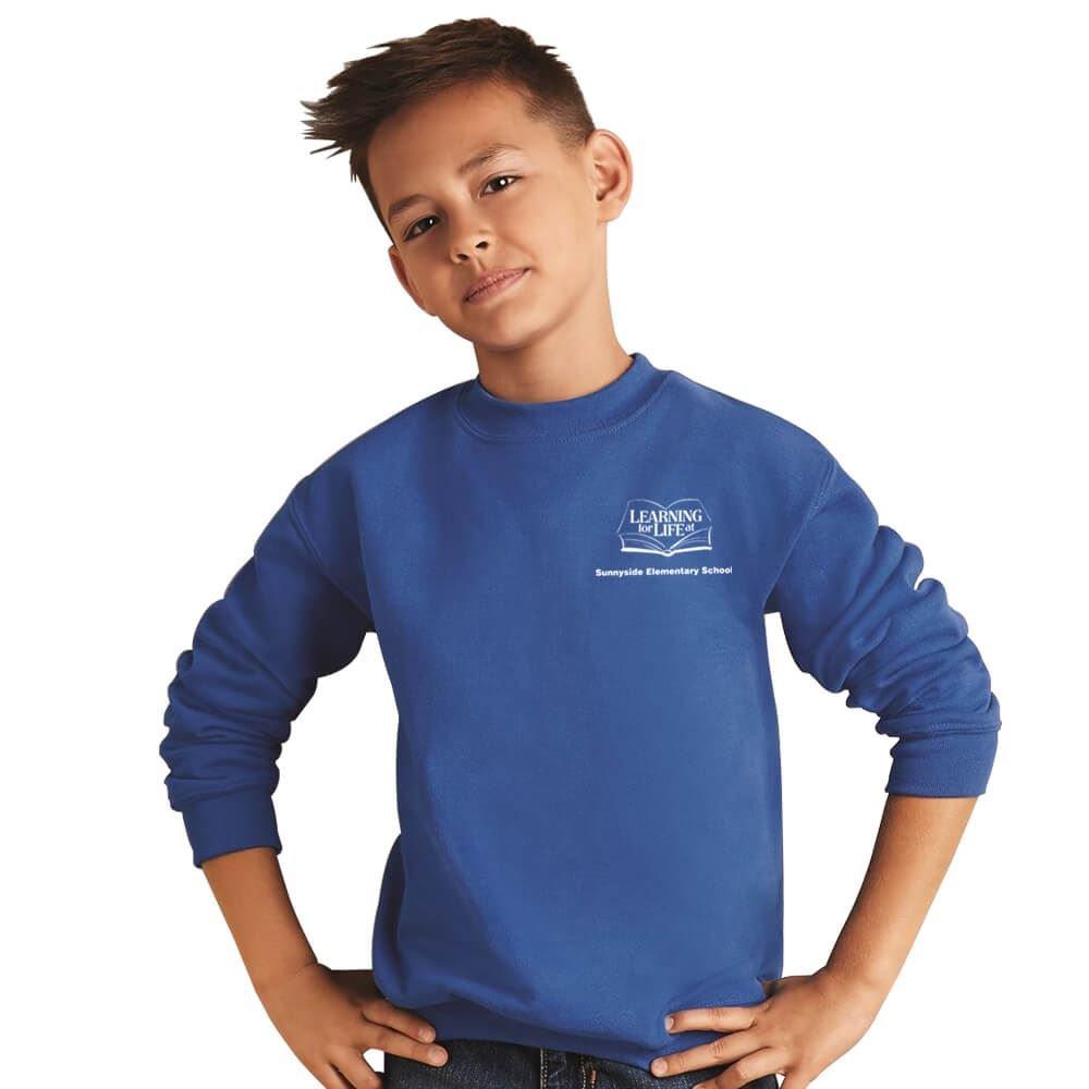 Gildan® Heavy Blend™ 8-oz., Youth 50/50 Fleece Crewneck Sweatshirt - Silkscreen Personalization Available