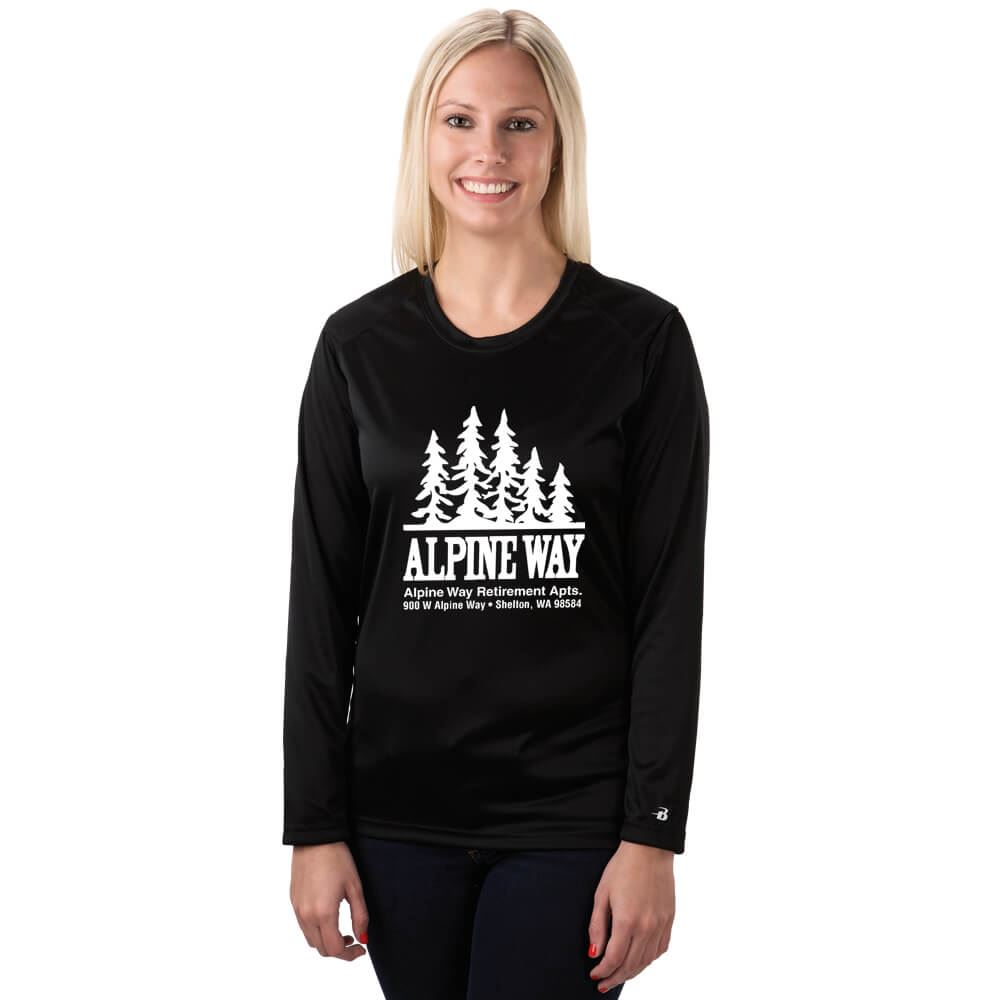 Women's B-Dry Moisture Management Fabric Long-Sleeve Performance Core Tee - Personalization Available