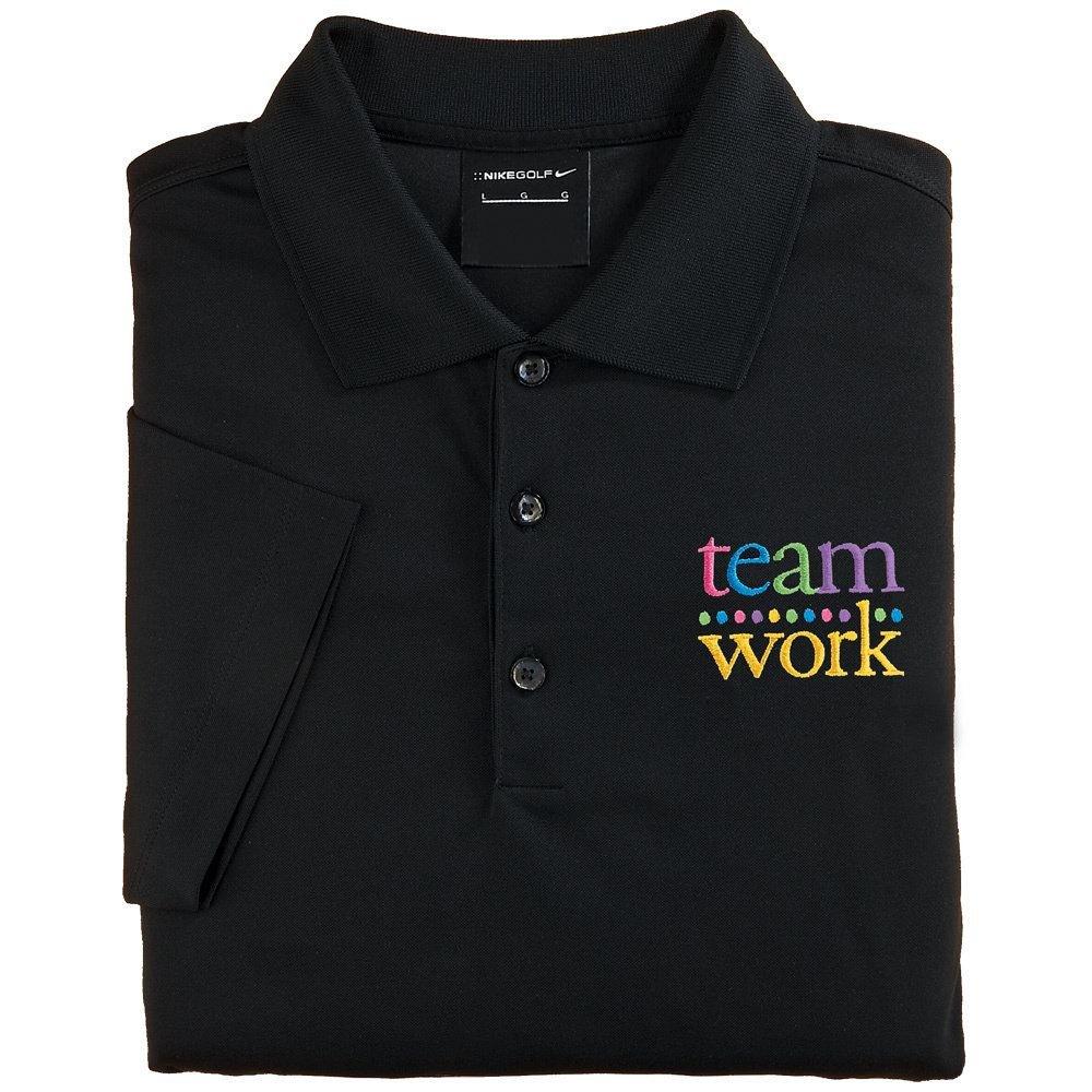 Teamwork Women s Nike Micro Pique Polo T-Shirt (Black)  93f991e075